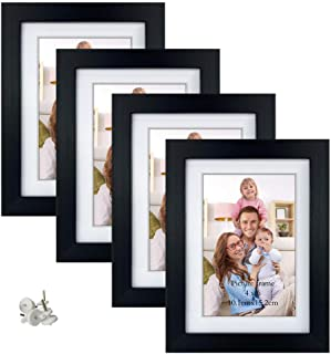 Giftgarden 4x6 Picture Frames Set of 4, Display 4x6 Pictures with Mat or 5x7 Photos without Mat for Wall Decor Floating or...
