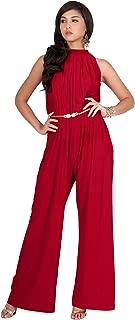 Womens Sexy Sleeveless Wide Leg Pants Cocktail Pantsuit Jumpsuit Romper