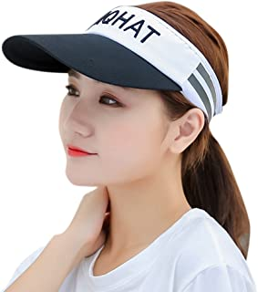 HINDAWI Visor Hat for Women Sun Hat Sports Golf Tennis Running Caps 3fc43c48f343