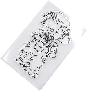 Runrain - Agenda transparente de silicona con sello de goma, para álbumes de recortes, decoración de bricolaje
