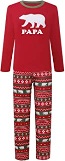 Family Matching Christmas Pajamas Sets Papa Mama Kids Babys Holiday Sleepwear Bear Nightwear