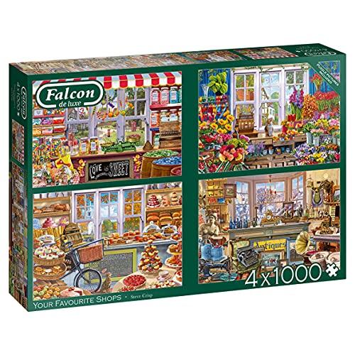 Falcon de luxe Your Favourite Shops 4 x 1000 pcs Puzzle - Rompecabezas (Puzzle rompecabezas, Arte, Niños y adultos, Niño/niña, 12 año(s), Interior) , color/modelo surtido