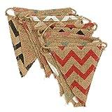 2.8 m Banderines de yute,banderines de lino,guirnaldas de tela,para dormitorio, fiestas de cumpleaños o decoración de boda