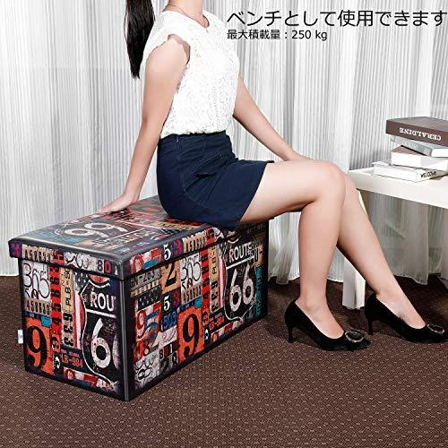 BFSOBEIIALEO『収納スツール二人掛けオットマンRoute66』