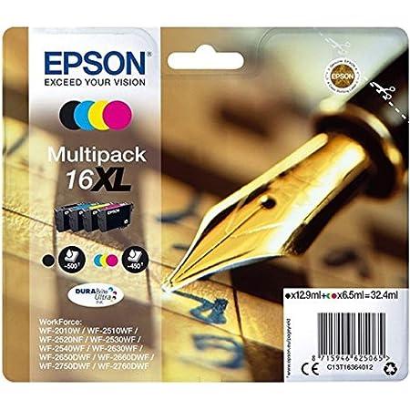Epson Original C13t16364511 Tinte Xl Füller Wisch Und Wasserfeste Multipack 4 Farbig Cymk Bürobedarf Schreibwaren