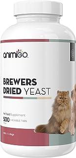 Animigo Pastillas de Levadura de Cerveza para Perros y Gatos | Suplemento Natural para Piel y Pelo Brillantes | con Vitamina B, Magnesio, Biotina Proteínas y Queratina | 60 Pastillas Blandas