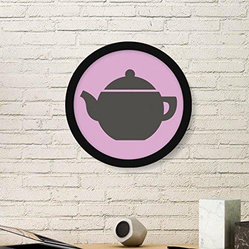 DIYthinker Theepot China Patroon Kunst Schilderen Foto Houten Ronde Frame Thuis Muurdecoratie Gift
