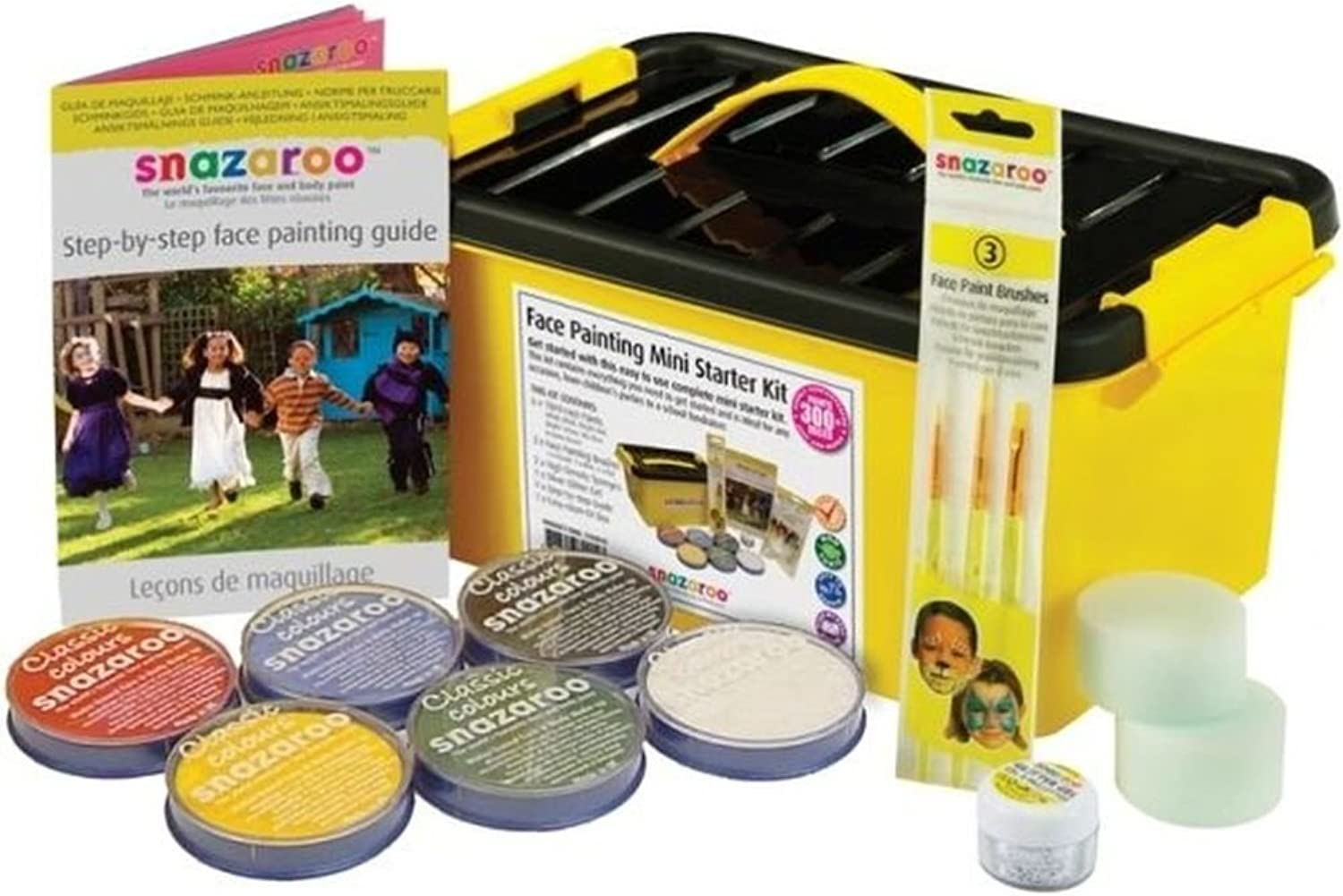 NANA'S PARTY Shipping Fast Snazaroo Mini Starter Face Paint Kit (Paints 300+ Faces) Make Up Guide Sponges+