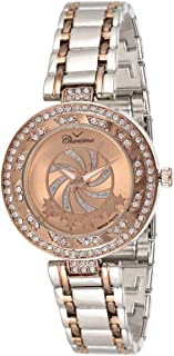 Charisma Women's Rose Gold Dial Metal Band Watch - C6589D