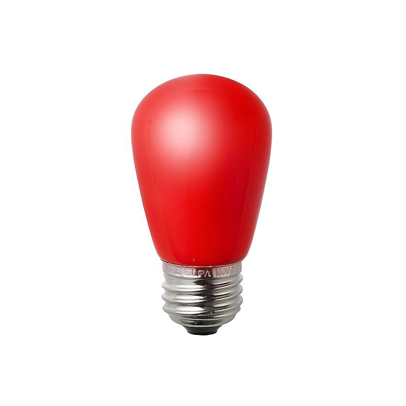 グレード貸す手首ELPA エルパ LED装飾電球 サイン球形 口金直径26mm レッド LDS1R-G-G904