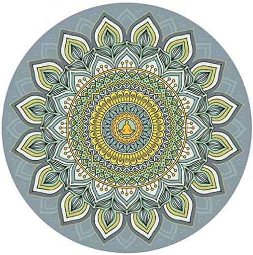 XINGDONG Esterilla de yoga redonda para yoga, grande, antideslizante, portátil, plegable, personalidad, meditación, fácil de almacenar (color: 3, tamaño: 70 cm)
