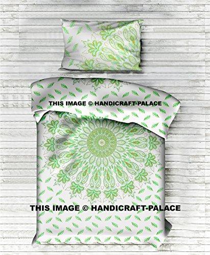 Mandala tapiz Mandala de plumas de indio colcha, algodón hecho a mano Hippie doble de edredón, funda de edredón, funda de edredón, juego de cama de artes tradicionales por 'handicraft-palace'