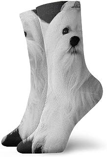 Elsaone, Calcetines blancos de pelo largo para hermanas de perros para hombres, mujeres, niños, trekking, rendimiento, exteriores 30 cm (11.8 pulgadas)