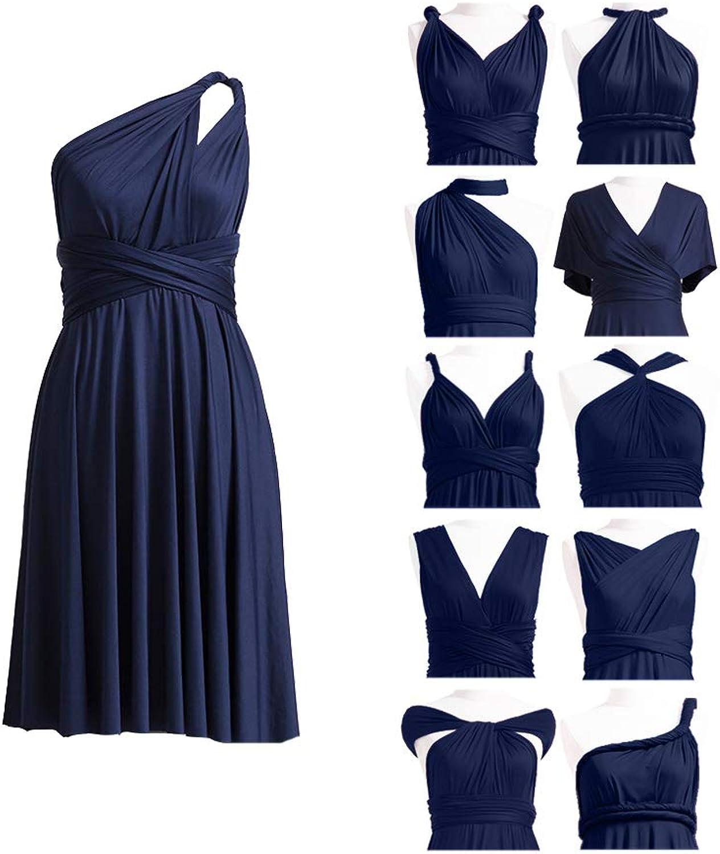 72STYLES Women's Convertible Dress Short Infinity Dress Transformer Multiway Wrap Dress for Bridesmaid