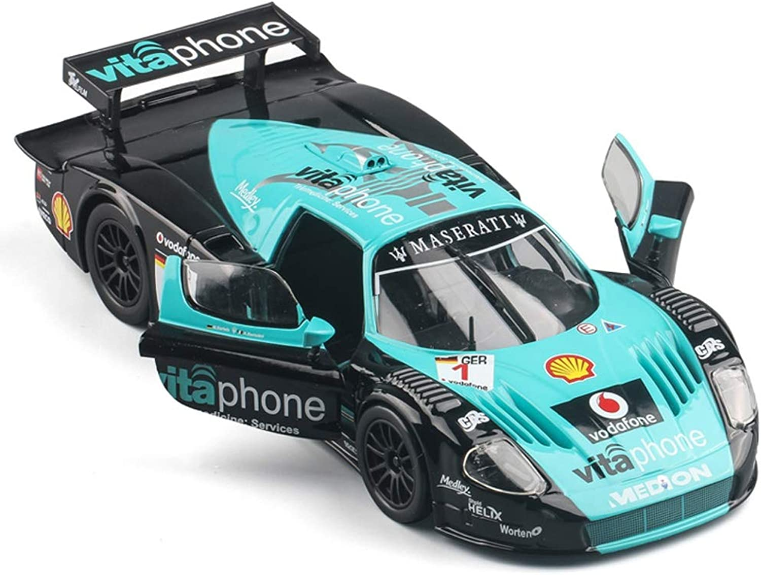 PENGJIEModel 1 24 Maserati MC12 Track Version Simulation Alloy Car Model Racing Collection Gifts (color   MC12)