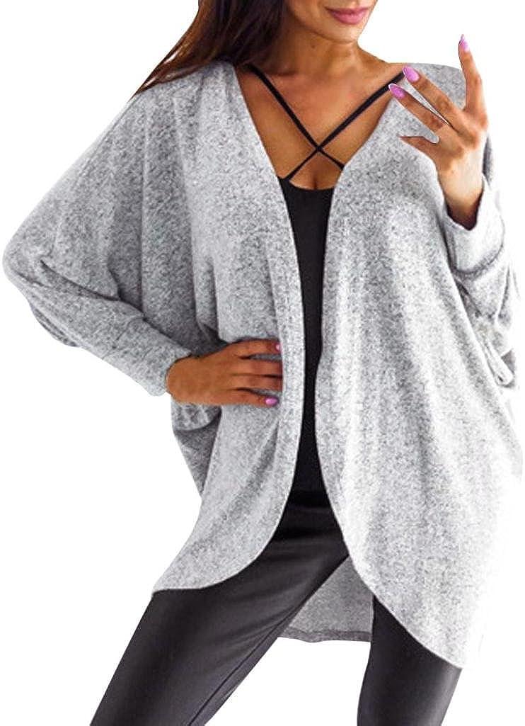 Cardigan for Womens, FORUU Kintted Sweater Asymmetric Hem Long Sleeve Coat Tops