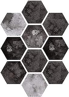 FINEjuyudd 10 Pcs Hexagon Self-Adhesive Non-Slip Bathroom Kitchen Floor Wall Tile Sticker Hexagonal Stickers