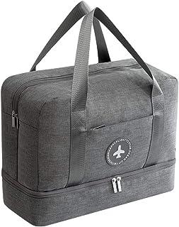 kroeus(クロース)旅行バッグ スポーツトートバッグ 撥水加工 乾湿分離 二層式 靴収納 ジム通いバッグ メンズ レディース