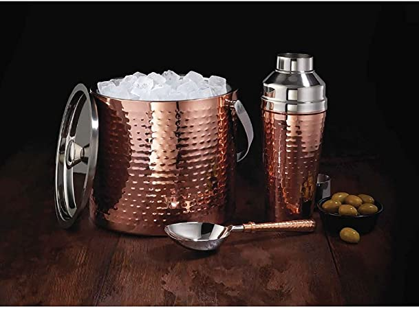 Member S Mark 3 Piece Barware Set Copper Kitchen Dining