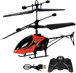ICCUN 2 Channel Mini RC Helicopter Radio Remote Control Model Toy With LED Light Helicopters