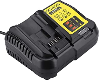 fo sa DCW105 Battery Charger, 12-20V 2A Lithium-ion Battery Charger Adapter Replacement Power Tool Charger DCB101 DCB107 DCB112(US)