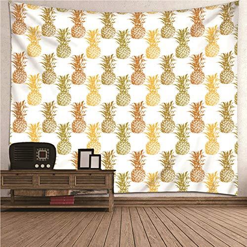 BATOHOME Tema De Frutas Tapiz Pequeñotapiz 3D Patrón De Piña para La Sala De Estar del Dormitorio Talla 150x2090CM