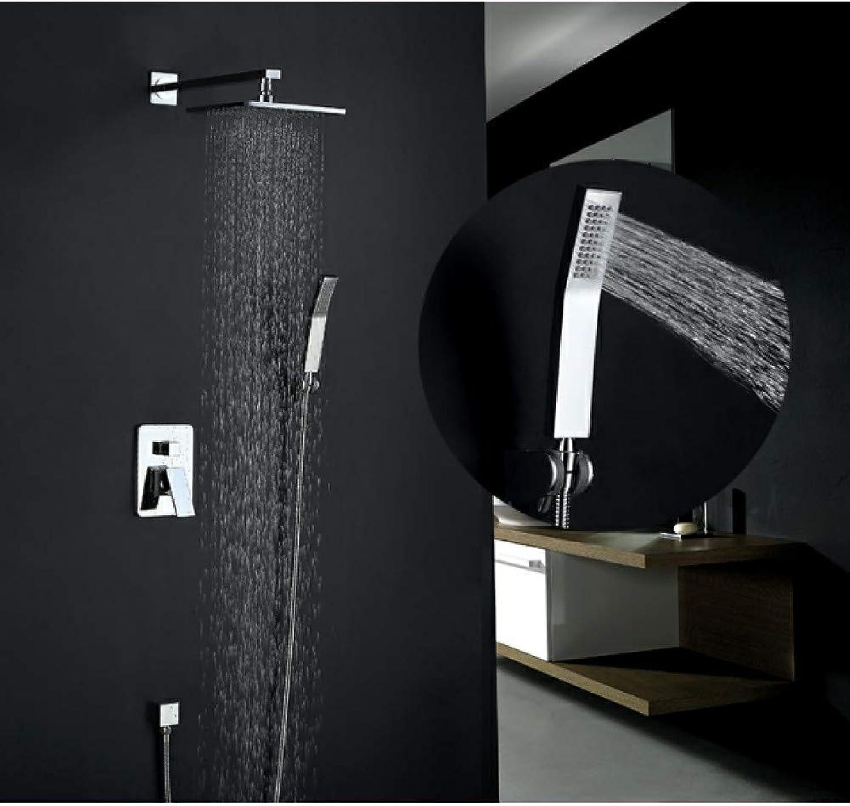 WHFDRHHS Duscharmaturen Chrom Niederschlag Bad Dusche Set Mischbatterie Wasserhahn