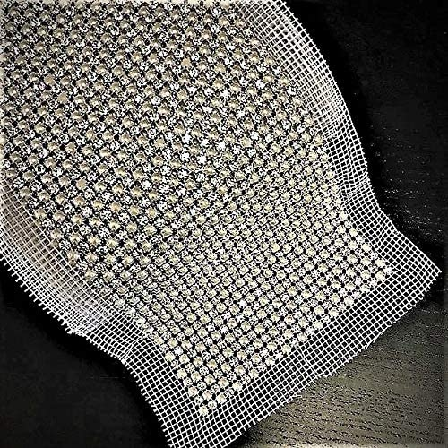 Pearl Crystal Rhinestone Mesh Oakland Mall with Trim Setting Long-awaited Silver Sewing