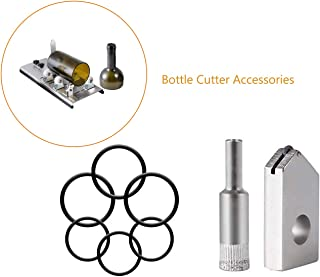 Kalawen Glass Bottle Cutter Accessories Tool Tool Kit Fixing Rubber Ring,Cutter,Glass Hole Saw