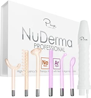 NuDerma Professional Skin Therapy Wand – Portable Handheld High Frequency Skin..