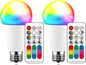 Color Changing LED Light Bulb, 120 Colors, 70 Watt Equivalent, DIY Strobe, Warm White 2700K RGB with Remote Control, LED 1...