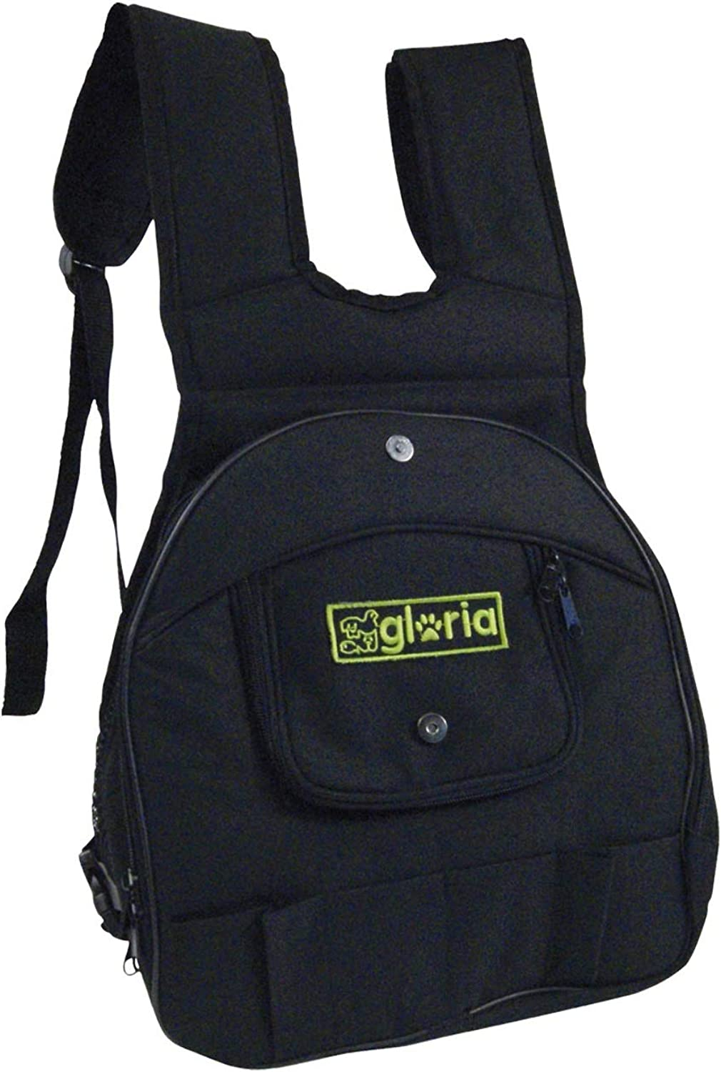 Gloria Canguro Expandable Pet Backpack (11.8 x 7.9 x 13.4in) (Black)