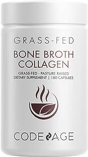 Sponsored Ad - Codeage Organic Bone Broth Collagen Capsules Grass Fed - Pasture Raised Chicken Bone Broth Collagen - 180 C...