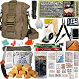 Prepper's Favorite: 72 Hr Survival Kit with Food, Water Filter, First Aid Kit, Fire Starter, Tools, Lights and Sleeping Bag. Ideal for Your Get Home Bag, Mini Bug Out Bag, Earthquake Kit or EDC.