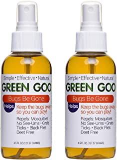 Green Goo All-Natural Skin Care, Bugs Be Gone, Insect Repellent Spray, 4.5 Ounce, Pack of 2 (Packaging May Vary)