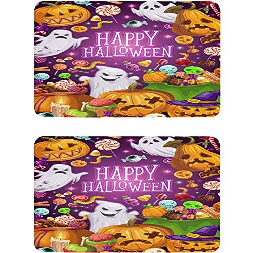 Vnurnrn Faroles de Halloween Jack de calabaza fantasmas de lavavajillas imán de refrigerador placa magnética decorativa para cocina oficina arandela indicador 2 piezas