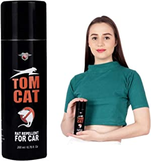 Shadow Securitronics Tom CAT No Entry Rat Repellent Spray for Cars Highly Effective with Mask and Gloves Lasts 1 Year Leak Free Easy to Spray Nozzle 1st time in India (Pack of 1)