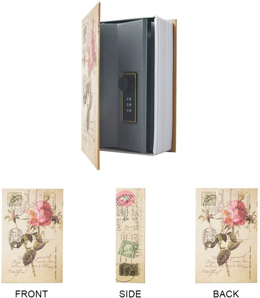 Love, Key Diversion Book Hidden Safe Dictionary Secret Safe Can with Security Combination Lock//Key Diversion Book Safe Storage Box