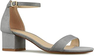 Premier Standard - Women's Strappy Chunky Block Low Heel - Formal, Wedding, Party Simple Classic Pump