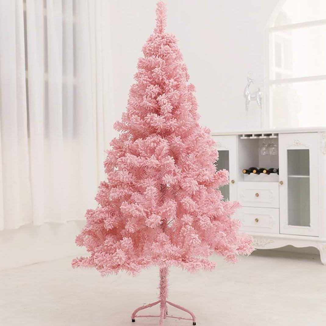 ガイダンス本物の鳥クリスマス クリスマスツリー-ピンクの植毛杉クリスマスツリーの特徴アパートの寮の部屋の暖炉やパーティーのスパンコールのアクセント クリスマスの装飾 (Color : 300cm)