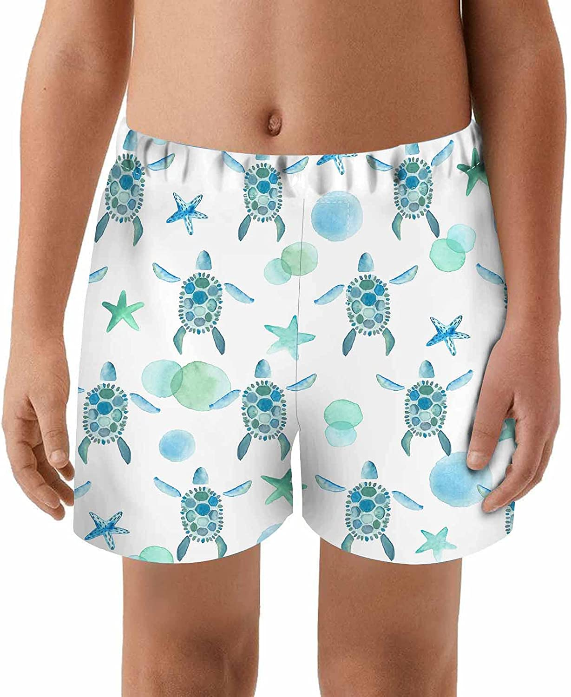 WONDERTIFY Turtle Kids Swim Trunks Anima Houston Mall Watercolor Starfish Sea Baltimore Mall