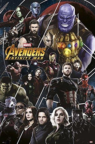 Grupo Erik Editores GPE5243 - Poster Los Vengadores Infinity War Marvel, 61 x 91,5 cm