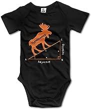 YEARla Unisex Hypotenuse Formula Math Geek Baby Rompers Baby Onesie Short Slev