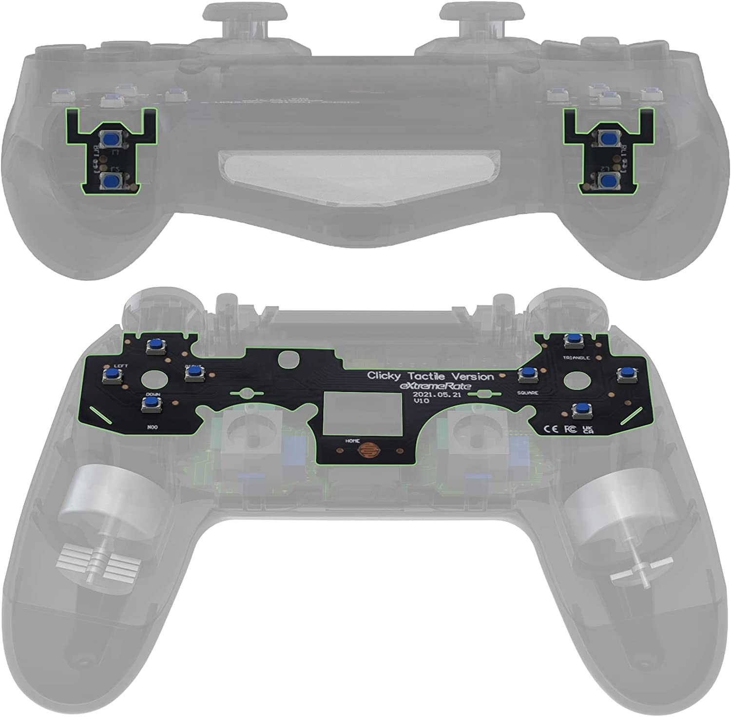 eXtremeRate Whole Tactile Clicky Kit Shoulder for safety Mail order cheap PS4 Controller