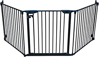 Cardinal Gates Expandable Gate, Black: Extra Wide Pet Gate, Perfect Dog Gate for Stairs with Easy One Hand Functionality