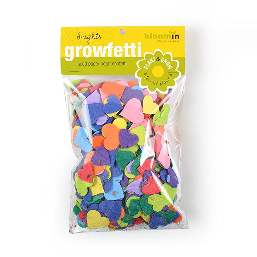 Bloomin Seed Paper Shape Packs - Growfetti - Heart Shapes {Brights}