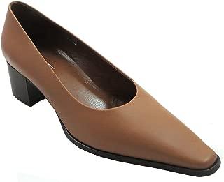 Davinci 4140 Women's Italian Pointed Toe Low Heel Shoes in Tan