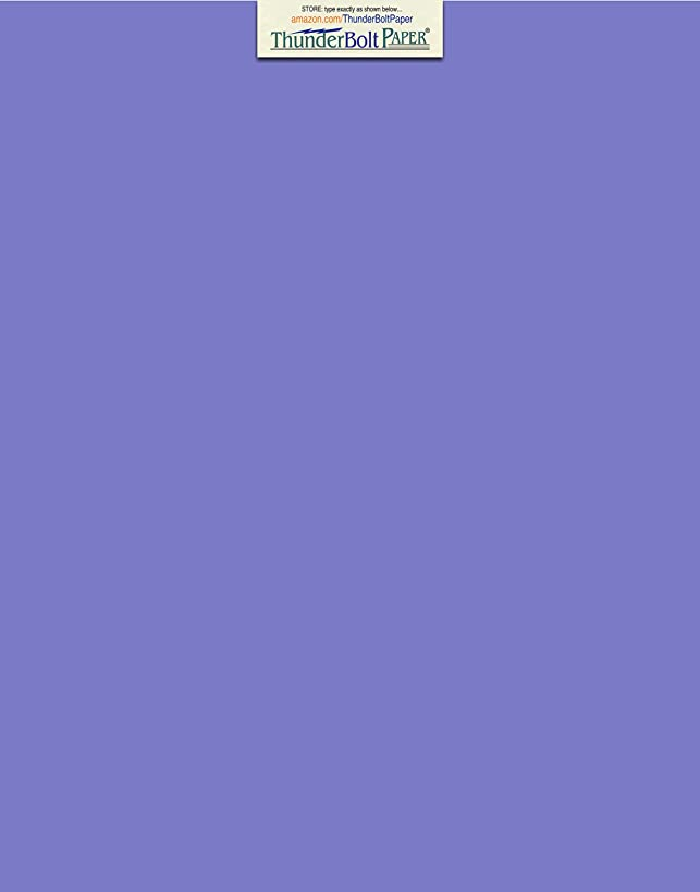 50 Bright Blue Violet 65lb Cover Card Paper - 11 X 14 Inches Scrapbook Picture-Frame Size - 65 lb/Pound Light Weight Cardstock - Quality Printable Smooth Surface for Bright Colorful Results