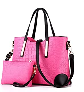 Ryse Womens Fashionable Classic Exquisite Handbag Shoulder Bag Small Wallet(RoseRed)