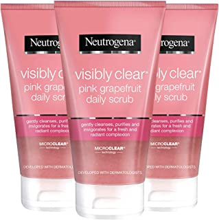 Neutrogena Visibly Clear Pink Grapefruit Daily Scrub, 5.07 Ounce (Pack of 3)